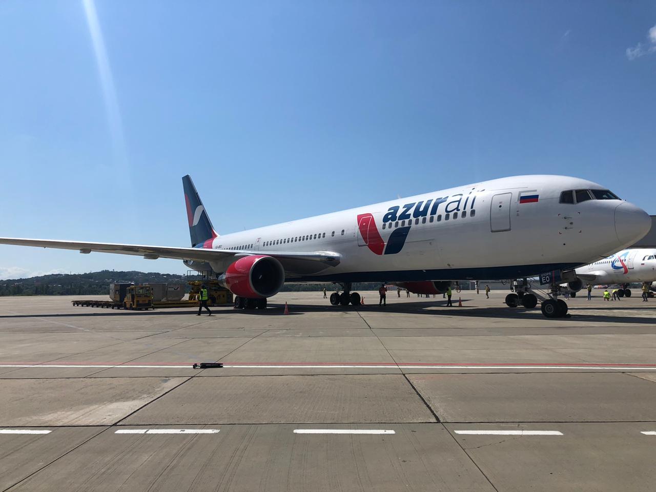 Международный аэропорт Сочи Адлер принял первые рейсы авиакомпании Azur Air